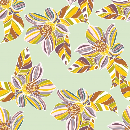 Seamless vector texture with abstract floral pattern Vector