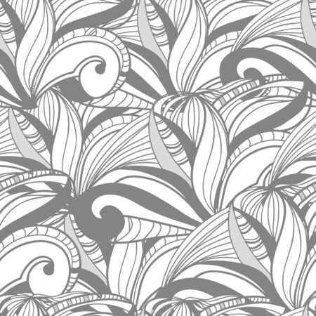 tilling: Seamless texture with abstract swirls Illustration