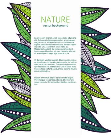 stylize: Vector achtergrond met stileert bladeren