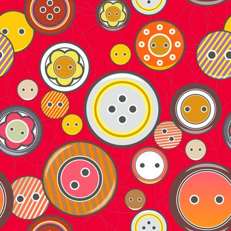 Seamless vector texture with bright buttons Vector
