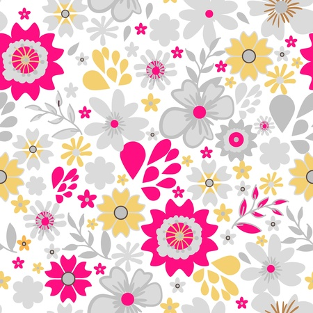 Seamless vector texture with small bright flowers Stock Vector - 18790697
