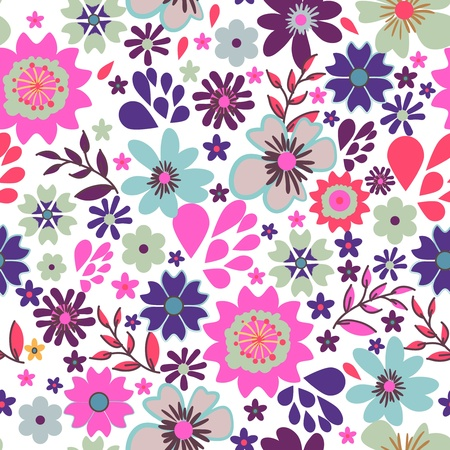 Seamless vector texture with small bright flowers Stock Vector - 18790703