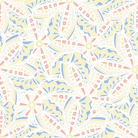 Seamless vector texture with tribal flowers Stock Vector - 19823927