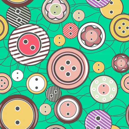 turquiose: Seamless vector texture with bright buttons