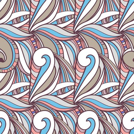 tilling: Seamless vector texture with abstract swirls