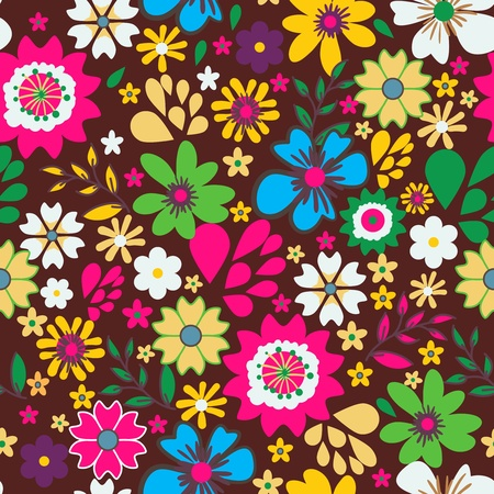 Seamless vector texture with small bright flowers Vector