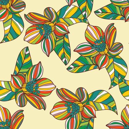 Nahtlose Textur mit abstrakten Blumenmuster Vektorgrafik