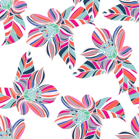 Seamless texture with abstract floral pattern Vector