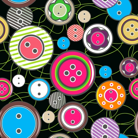 Seamless texture with bright buttons Stock Vector - 19990194