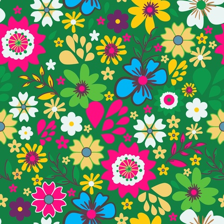Seamless texture with small bright flowers Stock Vector - 19990224