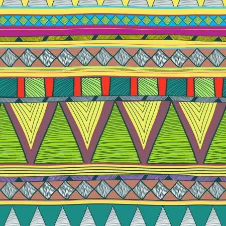 Seamless background with drawing tribal pattern Vector
