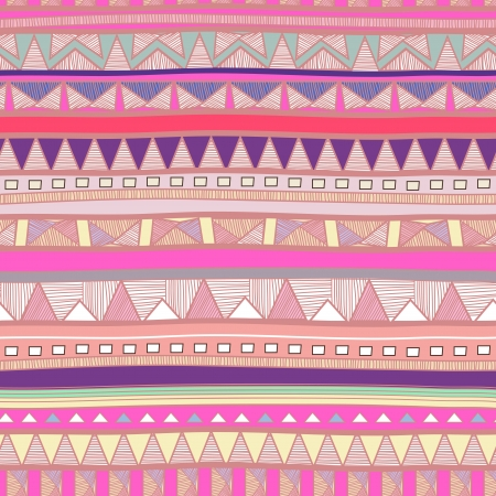 tribal pattern: Seamless background with drawing tribal pattern