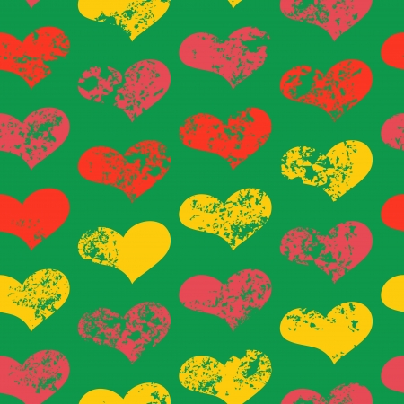 Seamless texture with drawing hearts Vector