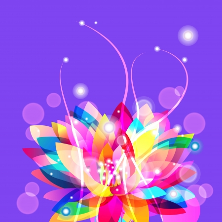 background with bright lotus Vector