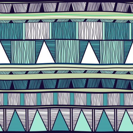 blue prints: Seamless background with drawing tribal pattern