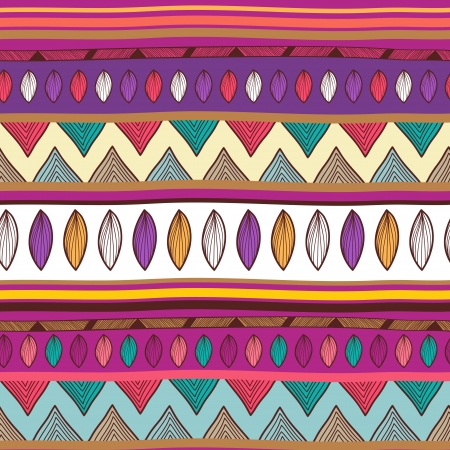 Seamless  background with tribal pattern Vector