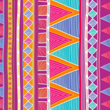부족의 패턴을 그리기와 원활한 배경 일러스트