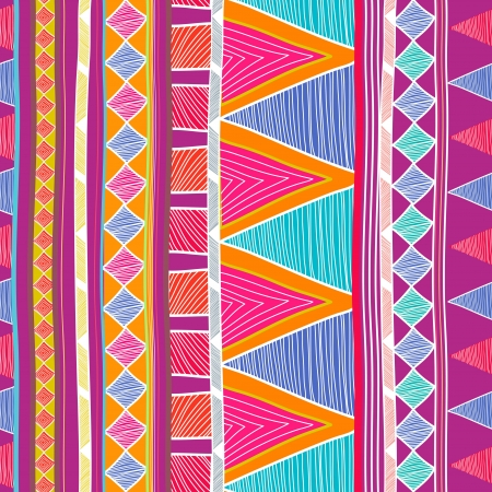 Seamless background with drawing tribal pattern