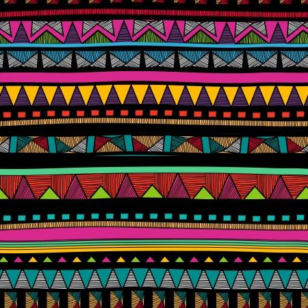 tribales: De fondo sin fisuras con el dibujo estampado tribal