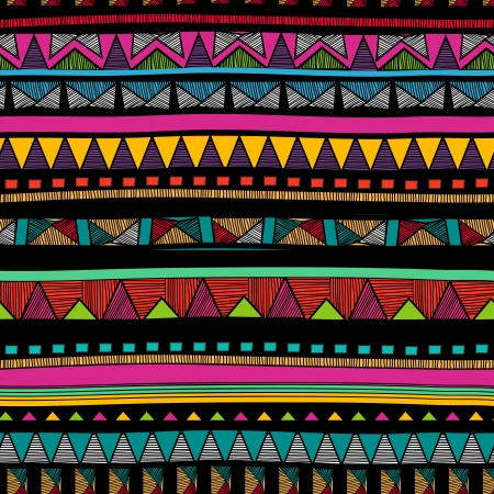 pattern: Seamless background with drawing tribal pattern