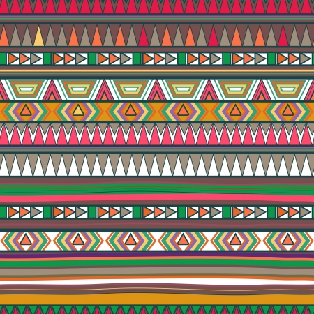 Seamless vector background with drawing tribal pattern