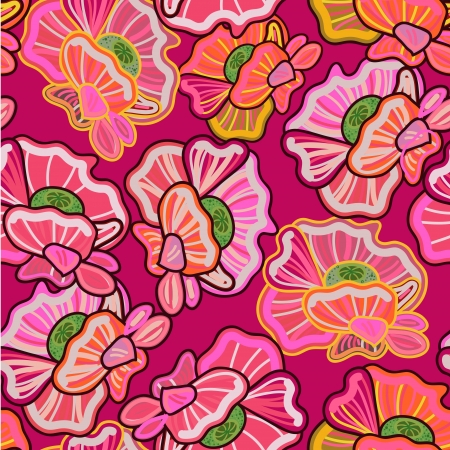 Seamless vector texture with drawing flowers Vector