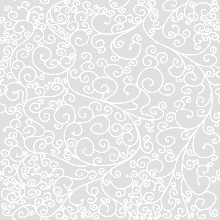 Seamless vector texture with drawing swirls Vector