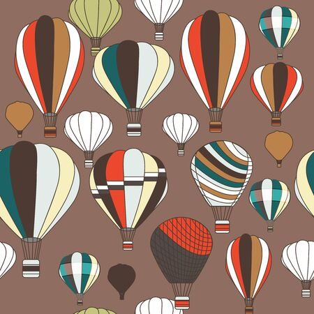 Vector seamless pattern with balloons Vector