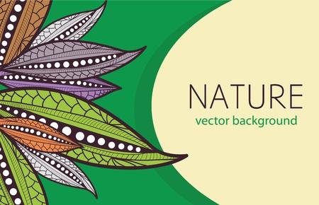 stylize: Vector achtergrond met stileren bladeren