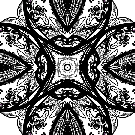 Vector symmetrical ornamental mandala