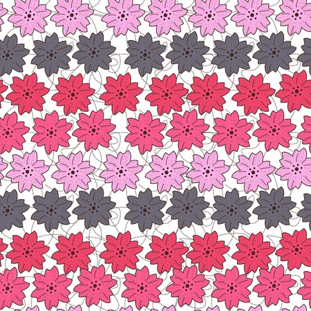 Seamless vector texture with small flowers Vector