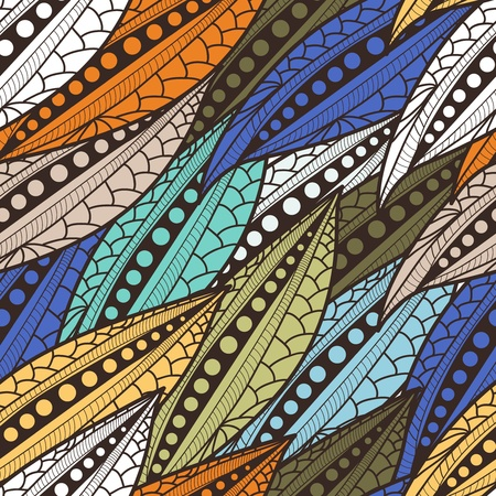 tilling: Bright seamless vector texture with abstract pattern Illustration