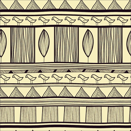ethno: Seamless vector background with tribal pattern