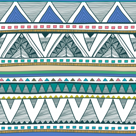 tribal pattern: Seamless vector background with drawing tribal pattern Illustration