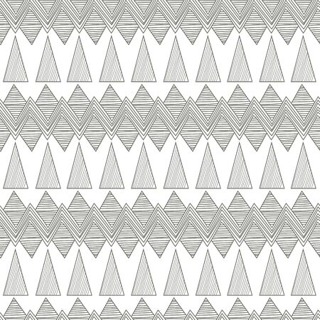 Seamless vector background with tribal abstract pattern Vector
