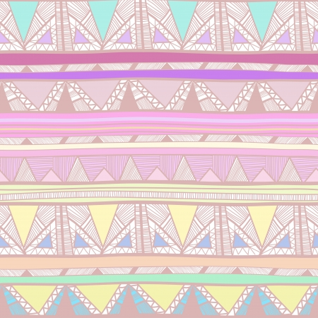 Seamless vector background with drawing tribal pattern Illustration