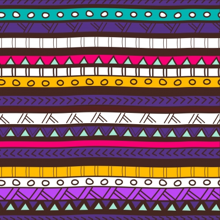 ethno: Seamless vector background with drawing tribal pattern Illustration