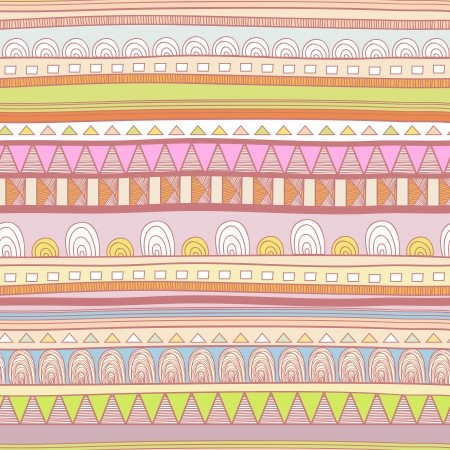 Seamless vector background with drawing tribal pattern Vector