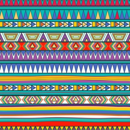 tribales: Fondo inconsútil del vector con el dibujo estampado tribal Vectores