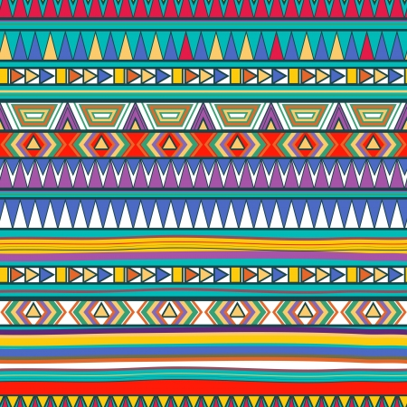 ethnic pattern: Seamless vector background with drawing tribal pattern Illustration