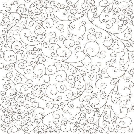 Grey: Kết cấu liền mạch với swirls vector vẽ