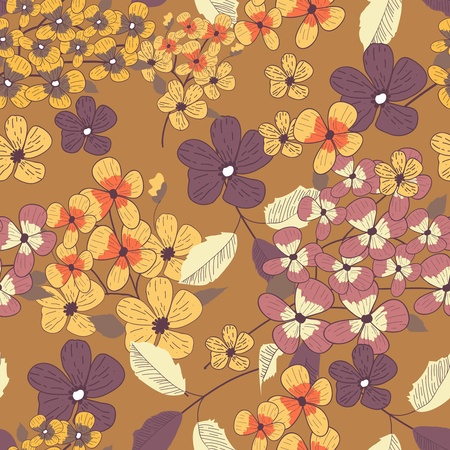 Seamless vector pattern with floral texture Vector