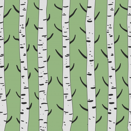 Seamless vector texture with birds and trees Vector