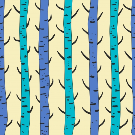 brushwood: Seamless vector texture with birds and trees