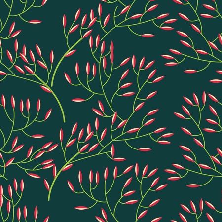 Seamless vector texture with abstract floral branch Stock Vector - 20535736