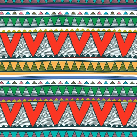 Seamless background with drawing tribal pattern Vektoros illusztráció