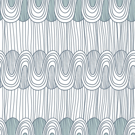 ethno: Seamless texture with drawing waves