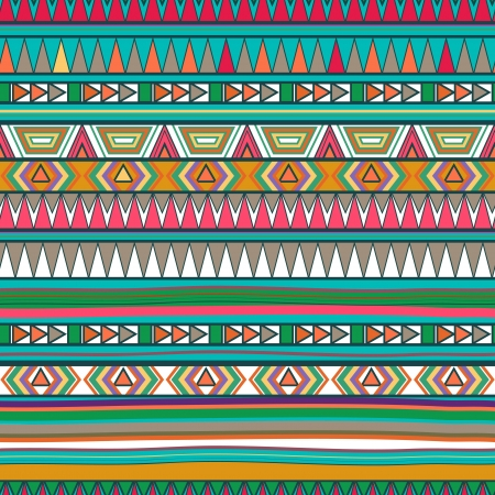textiles: Seamless texture with tribal texture Illustration