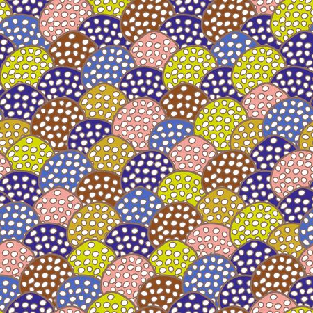 tilling: Abstract seamless multicolored texture Illustration