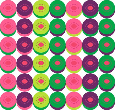 original circular abstract: Abstract seamless multicolored texture Illustration